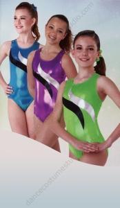 Swirl Foil Gymnastics Leotard