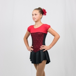 Diamond Competition Figure skating dress-Red