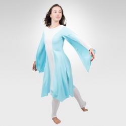 Grateful  Lyrical dance dress-Light Blue