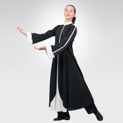 Prophet  dance robe-Black/White-side