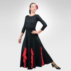 Flamenco dress with red flounces- Front