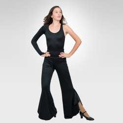 Ballroom & Latin dance pants-Flutter splits