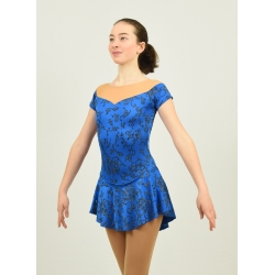 Princess competition figure skate dress Royal Blue