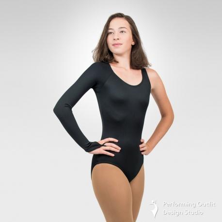 Fashion one-sleeve dance leotard-Front