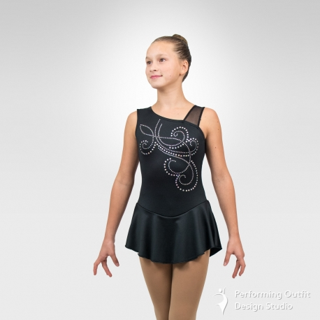 Whirl Competition figure skating dress-Front