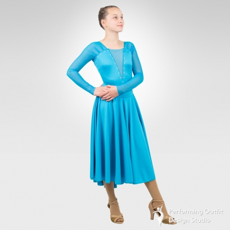 Duet Ice Amp Latin Dance Dress Performing Outfit Design