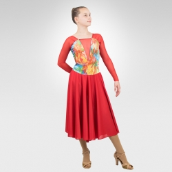 Valseana ice dance dress-red