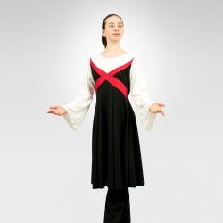Revelation bell sleeve dress - White, Red, Black