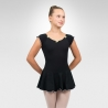 Cap sleeve dance leotard-Black