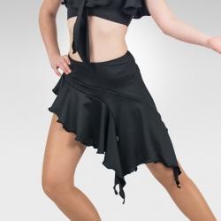 Asymmetrical Ballroom & Latin dance skirt- Front