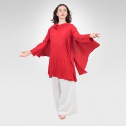 Messenger knit overdress-Red/Front
