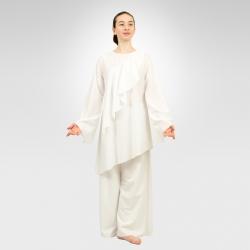 Awaken asymmetrical long sleeve top - White