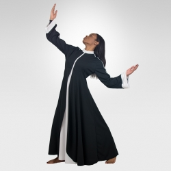 Prophet  dance robe-Black/White