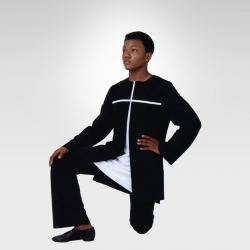 Strength of Fate long sleeve tunic - Black/White cross