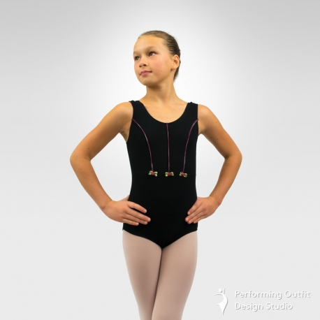 5e2c12c8c617 Child tank dance leotard with rosette - Performing Outfit Design ...