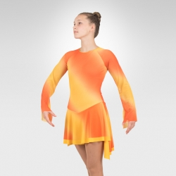 Fire figure skating dress