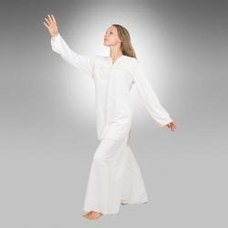 Heavenly unisex dance tunic White/Gold