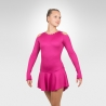 Jazzy figure skating long sleeve dress
