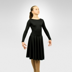 Performance dance dress with circular skirt