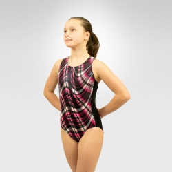 Gymnastics black side insets tank leotard