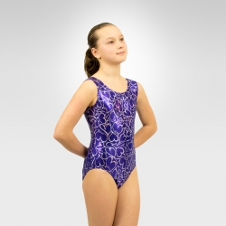 Gymnastics sweetheart print tank leotard
