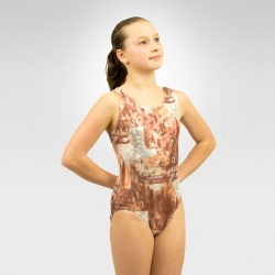 Gymnastics multi-color tank leotard