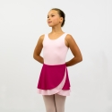 Walz of the Flowers reversible two-ply knit dance wrap skirt