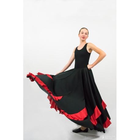 Flamenco skirt with contrast flounces