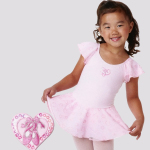 Ballet Cotton Spandex Leotard with Glitter Mesh Skirt