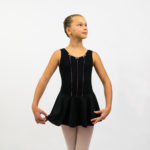 Black rozette ballet dance dress