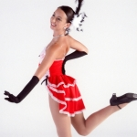 Can -Can Dance Leotard and Back Skirt