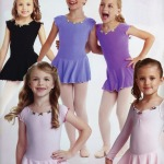 Dance Ballet Leotard and Skirt with Rozette&ribbon trim