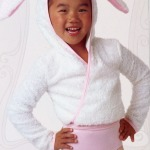 "Dance ""Bunny Ear"" Knit Hoodie Wrap Top"