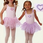 Dance Pink Orchid Leotard with Heart motif and Tulle skirt
