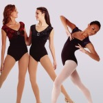 Embossed Velvet and Spandex Leotards