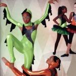Flying Dragons Dance Costume Leotard Leggings Shrug