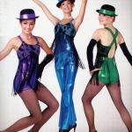 Foil Spandex Jazz Dance Costume