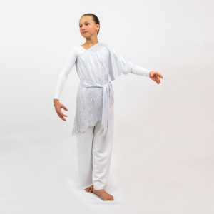 Heavenly Liturgical Praise dancewear Assymmetrical Overlay