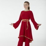Liturgical Red Spandex Dance Overdress