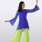 Liturgical Royal Lace Dance Tunic