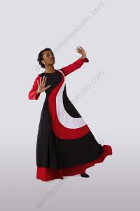 Liturgical Sleeveless Multi-Color Dance Overdress