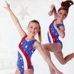 Team Gymnastics Foil Stars Leotard