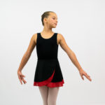 Two color double-ply reversible ballet dance skirt