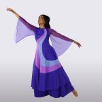 "liturgical Sleeveless Rainbow ""Fortune"" Overdress"
