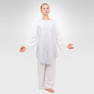 Angel sleeveless overlay girls liturgical dancewear