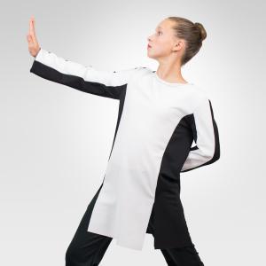 Exodus Tunic Praise Dancewear Black-White Mime