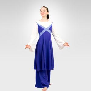 Revelation liturgical dance white-lavender-purple dress