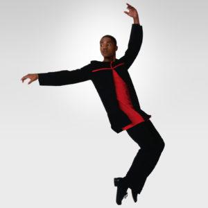 Strength of Fate praise dance tunic black-red cross