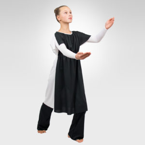 Two-Tone drawstring reversible liturgical dance tunic