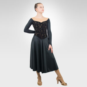 Floral vintage ice dance dress latin, dance dress